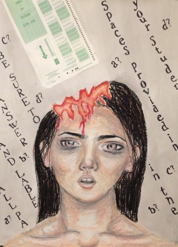 High School Students Create Haunting Artwork About Standardized Tests