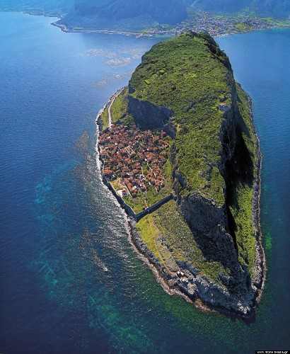 Meet Monemvasia, A Hidden 'Fortress Town' Perched On An Island In Greece