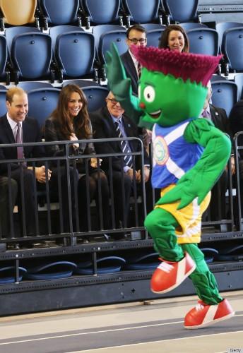Royals With Mascots: Princesses & Princes Pretend To Enjoy Fun Furry Creatures (PHOTOS)