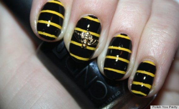 DIY Nail Art: Create A Buzz With This 3D Bumblebee Manicure (PHOTOS)