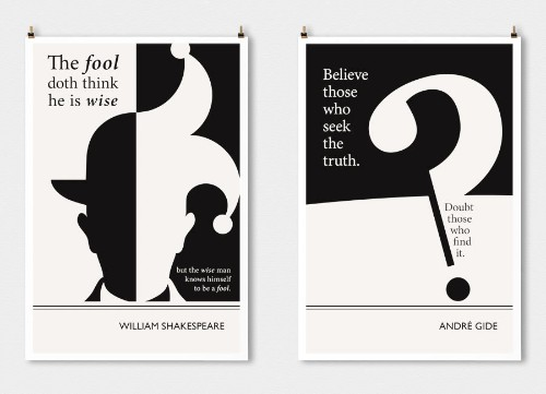 14 Literary Posters That Turn Famous Authors' Words Into Art