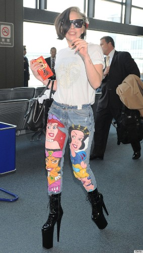Lady Gaga's Disney Pants Are Awesome... And A Little Creepy (PHOTOS)