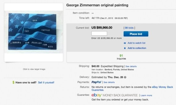 George Zimmerman Is Now Selling Paintings On eBay