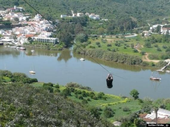 Travel From Spain To Portugal In Less Than A Minute With This Zany Zip-Line