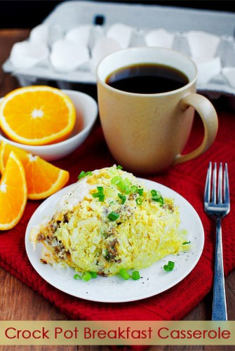 This Cheesy Crock-Pot Breakfast Casserole Is A 2-Step Morning Miracle