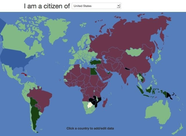 VisaMapper Is A Magical Map Where You Can See Which Countries Require Visas To Visit