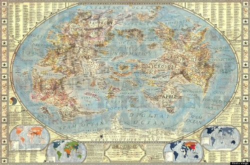 Where Would You Live On This Amazing Map Of The Internet?