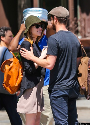 Emma Stone And Andrew Garfield Hold Hands On An Afternoon Stroll