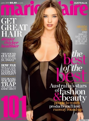 Miranda Kerr's Body Stocking On Marie Claire Australia Is Rather Perplexing (PHOTO)
