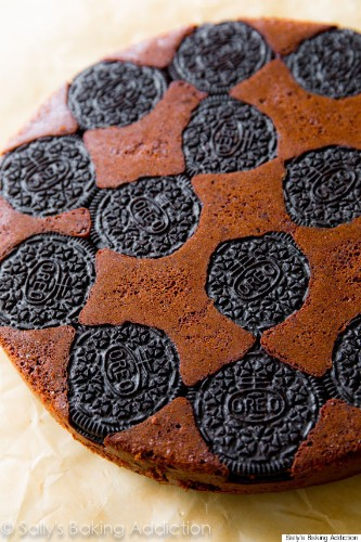 The Oreo Upside-Down Cake That's Making Us Reconsider Everything In Our Lives