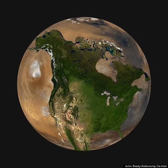 Here's What North America Would Look Like On Other Planets