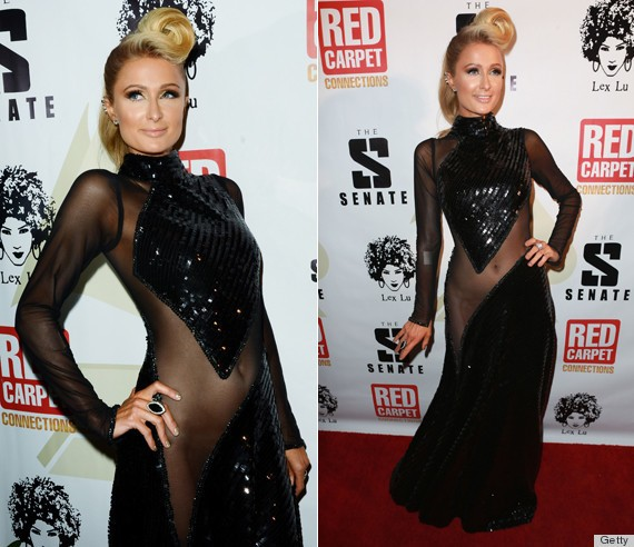 Paris Hilton Tries To Reignite The Unfortunate No-Underwear Dress Trend