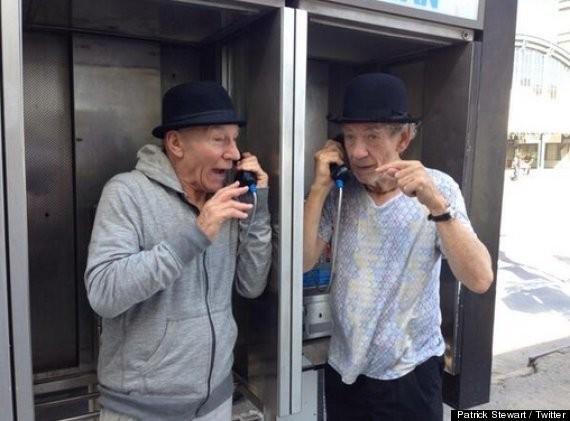 Patrick Stewart And Ian McKellen Wear Matching Bowler Hats, Achieve Next Level Preciousness