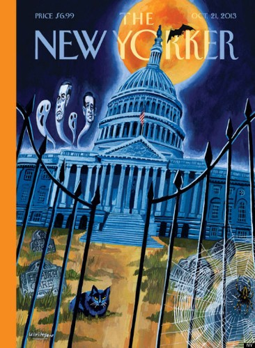 New Yorker's Haunted Congress Cover Is Both Spooky And Depressing (PHOTO)
