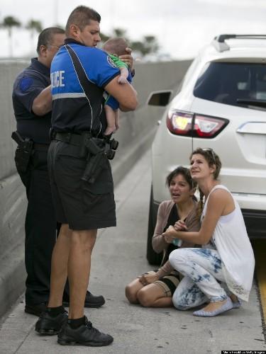 Baby Rescued On Miami Expressway (PHOTOS)