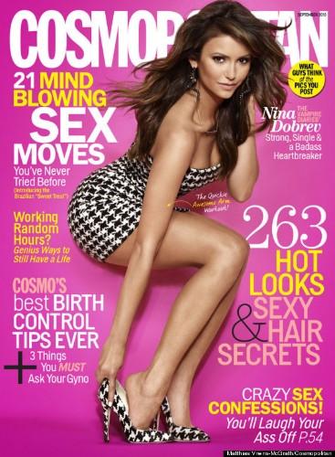 Nina Dobrev Shows Lots Of Leg On Cosmopolitan Cover, Talks Julianne Hough Friendship