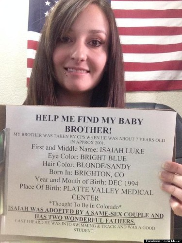 Facebook Plea Helps Julia Mauer Find Long Lost Brother After 12 Years (PHOTO)