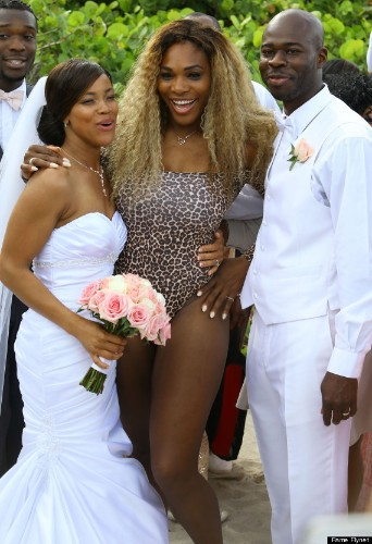 Serena Williams Crashes Wedding In A Leopard Swimsuit