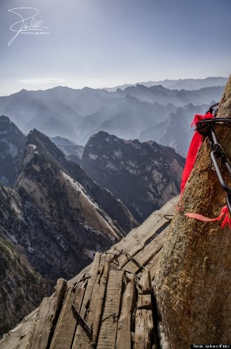 Mount Huashan Is One Of The Most Dangerous, Terrifying Hikes In The World