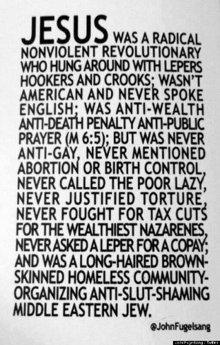 'Jesus Was A Radical Nonviolent Revolutionary' Post By John Fugelsang Is Spot On