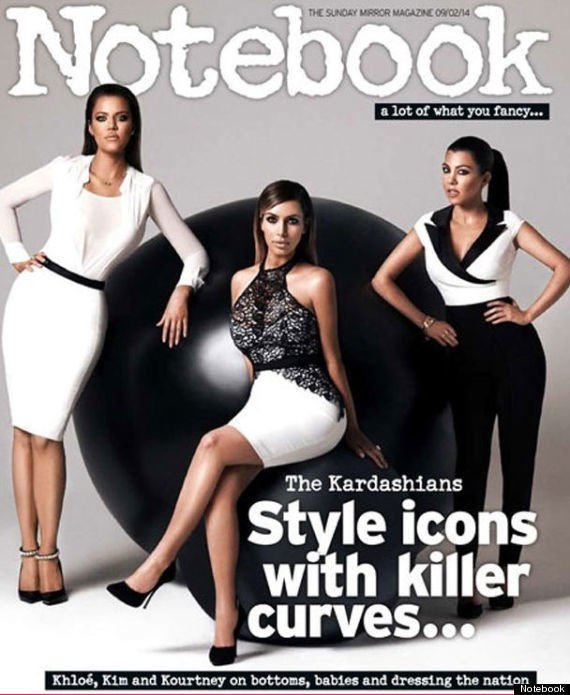 Kardashian Sisters' 'Killer Curves' Photoshopped Out Of Notebook Magazine Cover