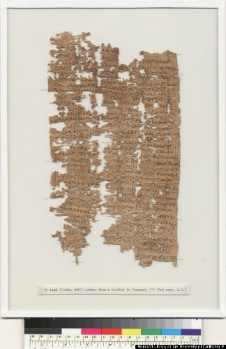 Ancient Egyptian Soldier's Letter Deciphered After 1,800 Years