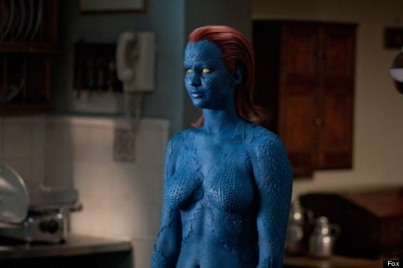 Jennifer Lawrence: Mystique Body Paint Replaced By Costume For 'X-Men: Days Of Future Past'