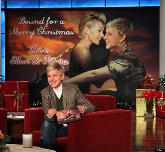 Ellen DeGeneres' Kim-And-Kanye-Themed Christmas Card Is 'Bound 2' Make You Smile