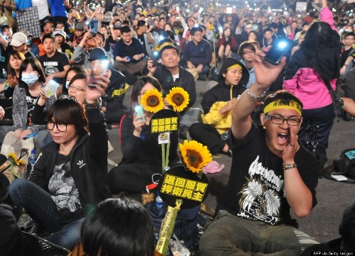PHOTOS: Taiwan's Sunflower Movement Protest Is Also Strikingly Beautiful