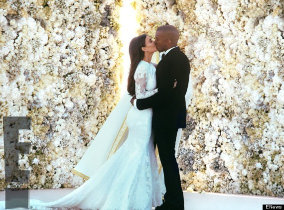Kim Kardashian And Kanye West's First Wedding Photos Emerge
