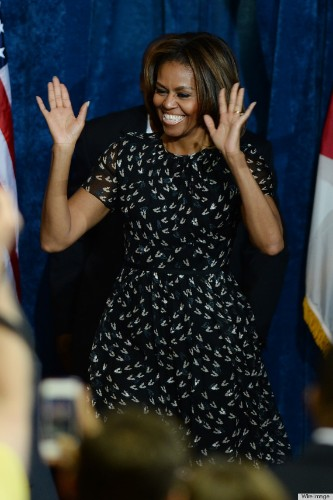 Michelle Obama Steps Out In Lighter Locks And A Black Dress In Florida (PHOTOS)
