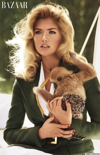 Kate Upton Holds Baby Animals For Carine Roitfeld's Bazaar Shoot (PHOTOS)