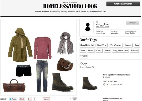 'Homeless/Hobo Look' Gets A Spot On ASOS Fashion Finder Site (PHOTO)