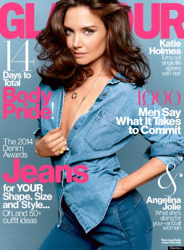 Katie Holmes Poses Topless For Glamour Magazine
