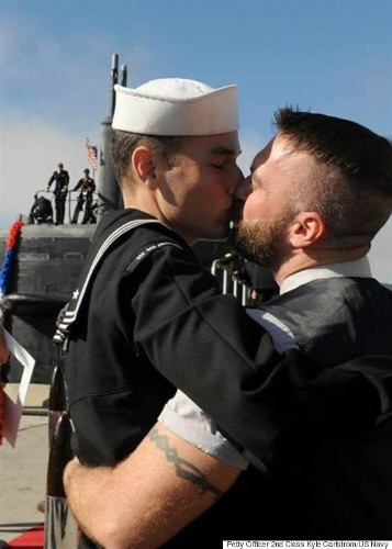 Gay Couple Makes Navy History With 'First Kiss'