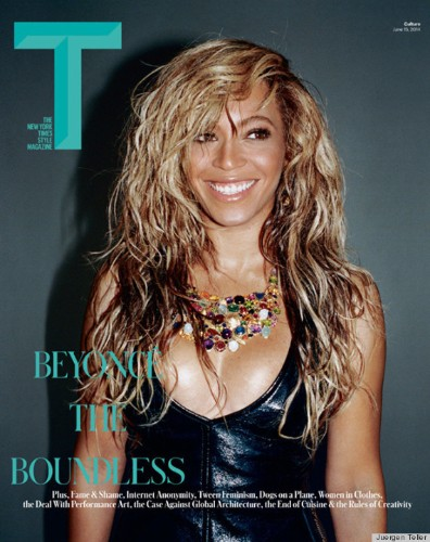 Beyoncᅢᄅ's Big Hair, Baubles & Boobs Cover T Magazine