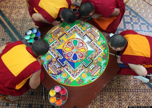 Get Up Close And Personal With This Impossibly Intricate Buddhist Sand Mandala