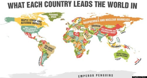Hilarious Map Shows What Each Country Is Best At