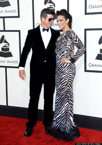 Robin Thicke And Paula Patton Are All Smiles At The Grammys Despite Cheating Allegations