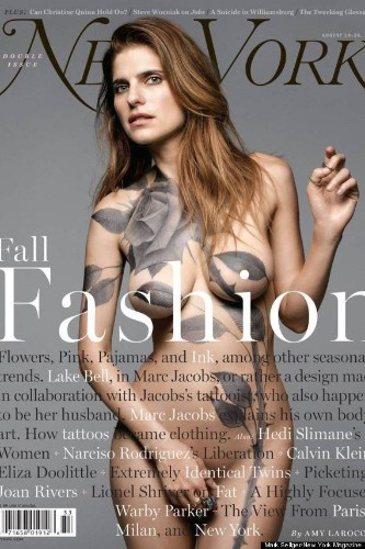 Lake Bell Poses Nude & Covered In Tattoos For New York Magazine