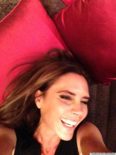 Victoria Beckham Laughing? David Beckham Posts Photographic Evidence (PHOTO)
