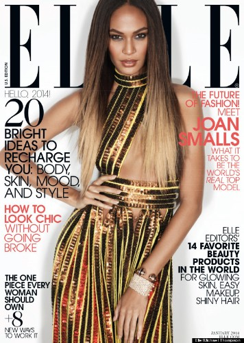 Joan Smalls Gets Glam For Elle's First Cover Of 2014 And Talks Fashion Diversity (PHOTOS)