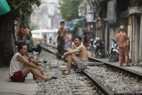 The Hanoi Street That Has A Train Track Through It