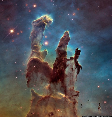 Gorgeous 'Pillars Of Creation' Shine In New Hi-Def Hubble Photos