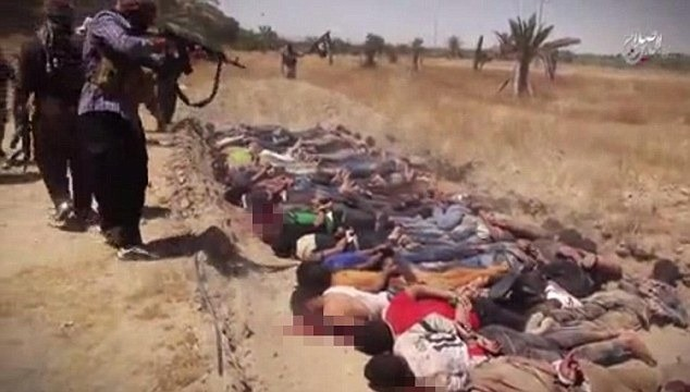 Isis: Islamist terror group release sickening video of 'wholesale slaughter' in Speicher massacre