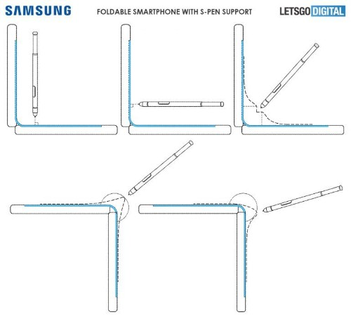 Samsung Files A Patent For A Foldable Smartphone With A Stylus
