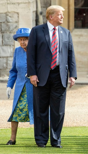 We Can't Stop Looking at These Photos of Donald Trump and Queen Elizabeth