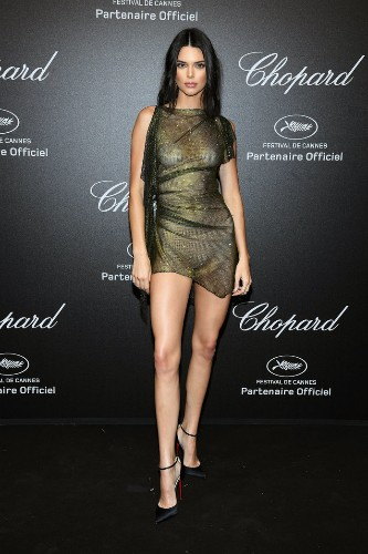 Kendall Jenner Wore the Black Tie Version of Her Most Naked Look Ever