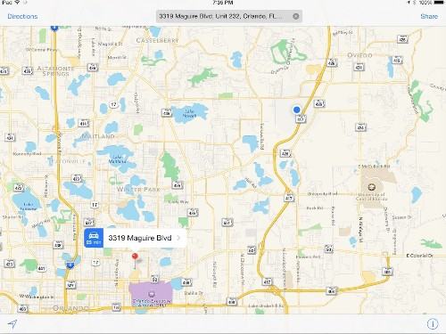 How to use alternative apps to navigate to an address from Apple Maps