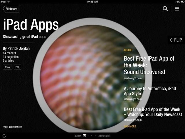 Flipboard Magazines – A Couple New iPad Titles